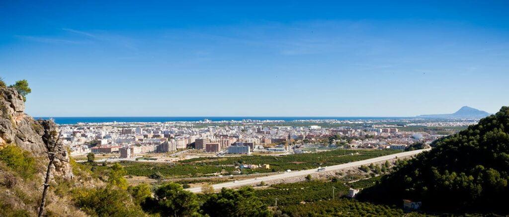Vista de la ciudad de Gandia