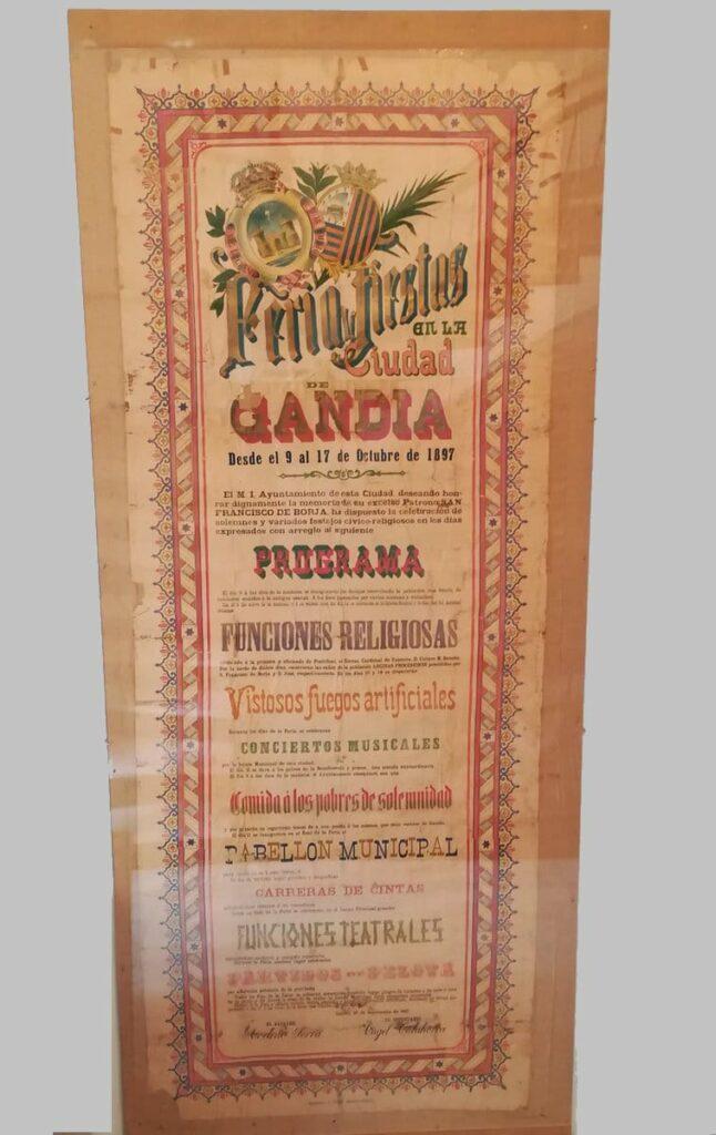 Cartel de La Feria de Gandia1897