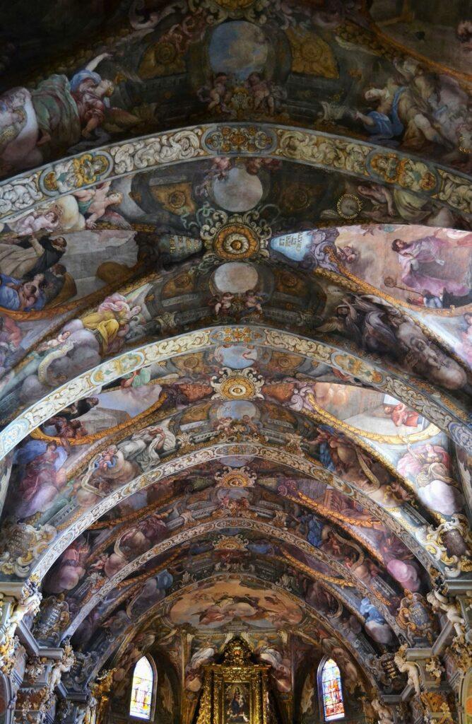 Frescos de la Iglesia de San Nicolás, en Valencia.