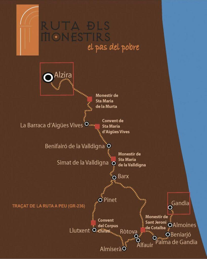 Ruta dels Monastirs Gandia