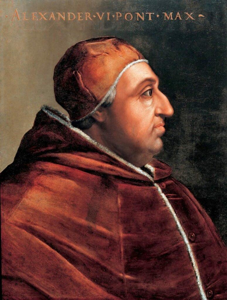 El Papa Alejandro VI por Cristofano dell'Altissimo